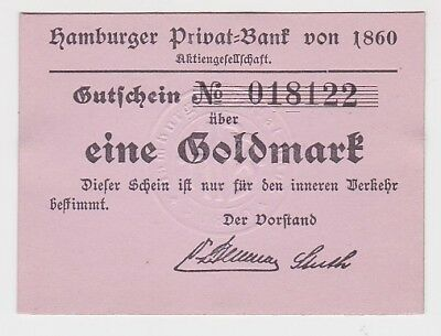 1 Goldmark Banknote wertbeständiges Notgeld Hamburger Privat Bank 1923 (117897)