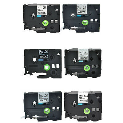9/12/18/24mm Label Tape TZ-121 131 221 231 241 251 151 335 for Brother P-Touch