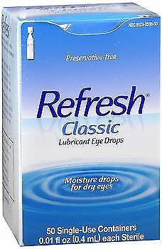 Refresh Classic Lubricant Eye Drops Single-Use Containers, 50 - 0.4 ml, Pack...