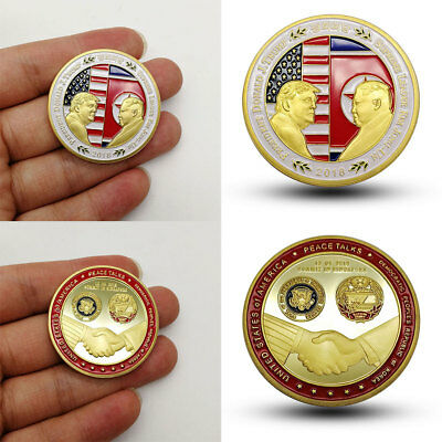 American North Korea Peace Talk Commemorative Coin Collection Collect Souvenir