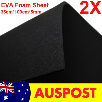 2PCS 5mm Black EVA Foam Sheets 35x100cm Kids Handmade DIY Craft Cosplay Model