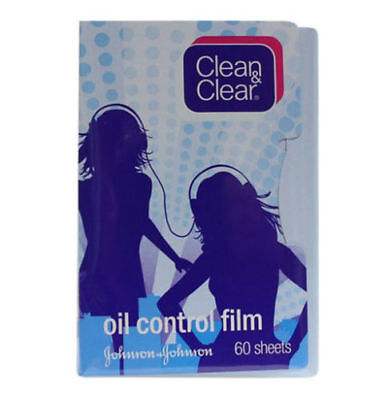 Clean & Clear Oil Control Film Oil-Absorbing Sheets Blotting Paper 60 Sheets