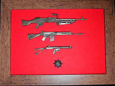 Commemorative Royal Anglian Regiment framed 1/6 scale weapons