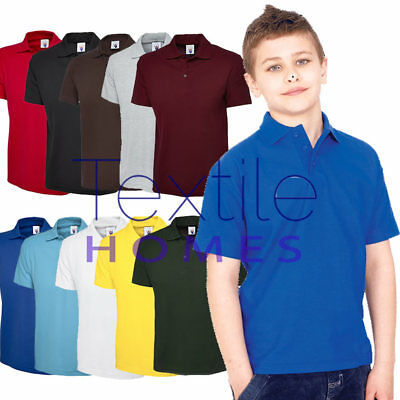 0343b05e Uneek Childrens School Polo Shirts Kids Classic Collar Unisex Boys & Girls  Plian