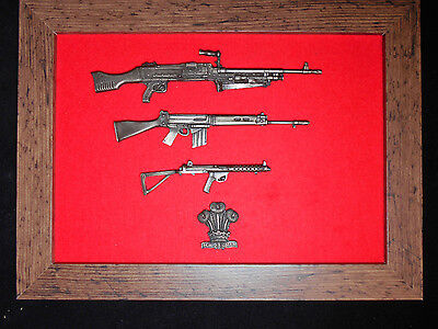 Commemorative Royal Regiment of Wales framed 1/6 scale weapons