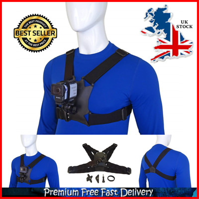 Stuntman Adjustable Mount Strap Multi Camera Chest Harness For Action Cameras UK