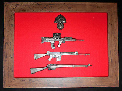 Commemorative Royal Regiment of Fusiliers framed 1/6 scale Rifles