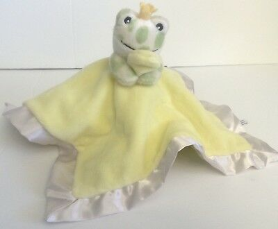 Cloud B Frog Security Blanket Lovey Crown Spot Satin Yellow