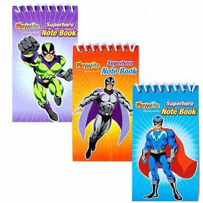 Pinata Toy Loot//Party Bag Fillers Childrens//Kids 6 Super Hero Ink Stamps