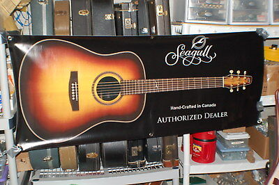 2000 Seagull New Old Stock Guitar Store Display Banner