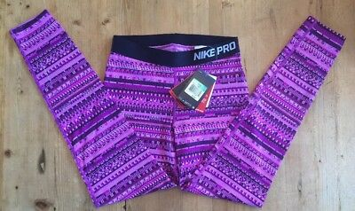 NEW NIKE PRO Dri-Fit Girl's HyperWarm Pants Purple Legging Youth XL NWT $45