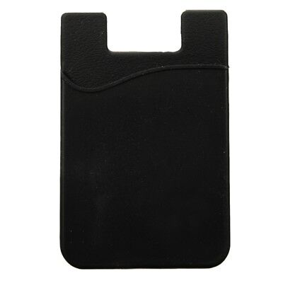 Silicone Wallet Credit Card Cash Stick Adhesive Holder Case For iPhone Cellph M6