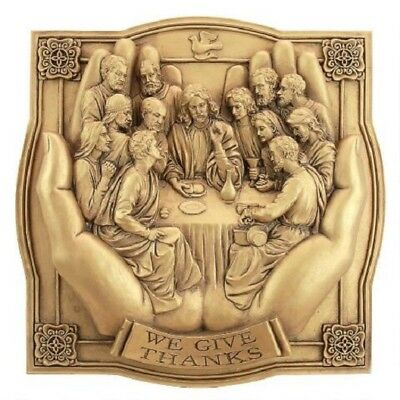 The Last Supper in Christ's Hands Ancient Antique Replica Wall Sculpture New