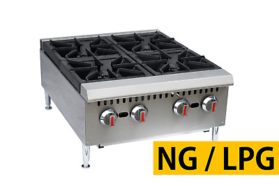 "Pantin 24"" Commercial 4 Burner Countertop Gas Range Hot Plate NSF 120,000 BTU"