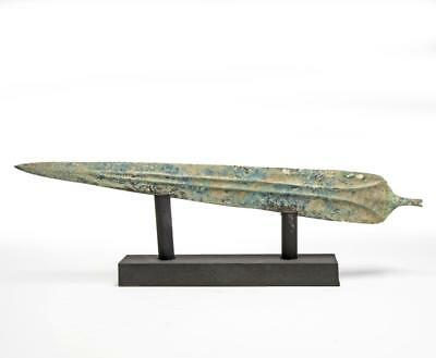 900 BC Luristan weaponry bronze short-sword blade with blood channels