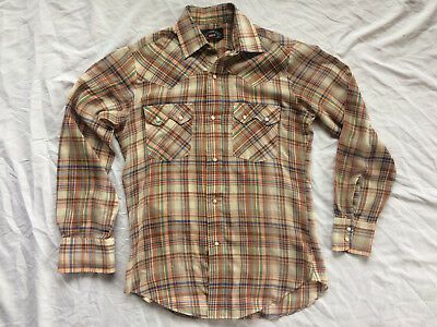 Vintage Levis Western shirt Pearl Snap Cowboy Men's Small S