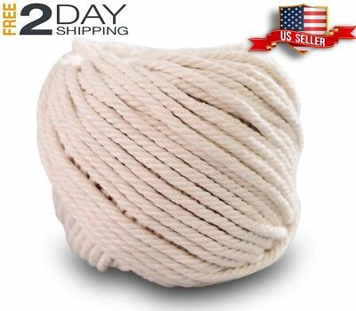 Beige,4mm x 100m About 109 yd Handmade Decorations Natural Cotton Bohemia Mac
