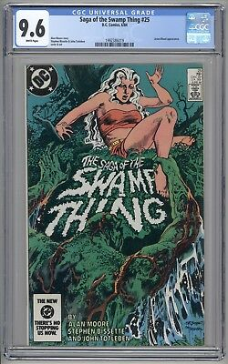 Saga of the Swamp Thing #25 CGC 9.6 NM+ (Marvel 1984) 1st cameo John Constantine