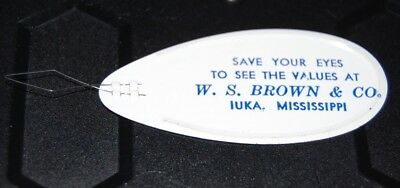 Vintage IUKA Mississippi Advertising - W.S. Brown & Co Needle Threader