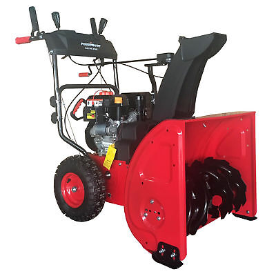 PowerSmart 24 Inch 2 Stage Electric Start Gas Snow Blower with Power Assist