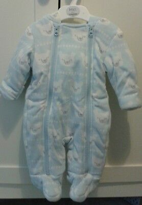 847c4beca BABY BOYS WINTER Snow Suit BNWT 0-3 Months Mothercare - £10.00 ...