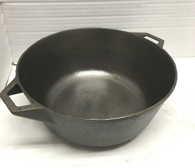 """Hard to Find Restored 1980's Griswold Hearthstone 10"""" 4 qt Dutch oven"""