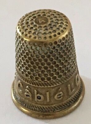 "Messing Fingerhut Thimbles brass ""Cable LOUIS d'OR"" De A Coudre"