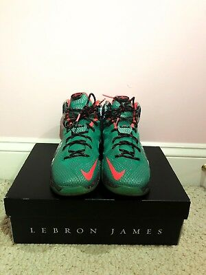 official photos d2235 c5b93 2014 NIKE LEBRON 12 Xmas Akron Birch Sz GS 6.5 Youth