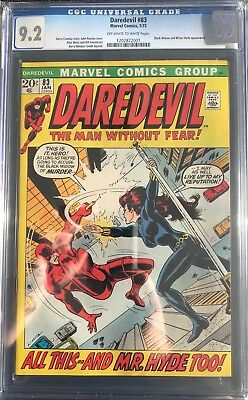 Daredevil #83 CGC 9.2 OW-W (Marvel, 1972) Black Widow Mr. Hyde Cover Appearance!