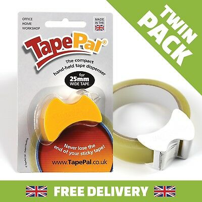 THE WORLDS MOST COMPACT AND EFFICIENT 25mm TAPE DISPENSER. TAPEPAL X 2