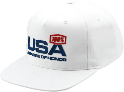 100% Motocross De Nations Mxdn Hat Limited Edition White - Usa A Badge Of Honor