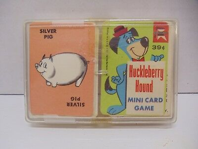 Vintage 1967 Ed-U-Cards Mini Card Games Huckleberry Hound & Silver Pig