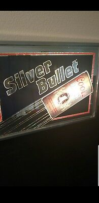 Vintage Lighted Coors Light Silver Bullet Sign *Rare* Nice Condition WORKS 1987