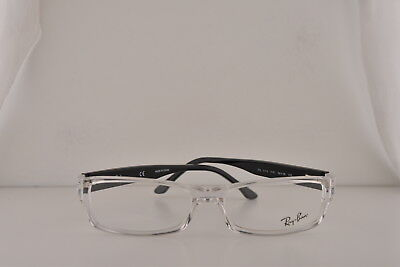 3ed1446f7bac4 Ray Ban RX5114 Eyeglasses Clear Transparent w Demo 54mm Lens 2161 RB5114  5114