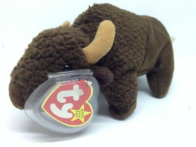Very Rare - Ty Beanie Babies Roam The Buffalo - Retired 1998 With Tag Error