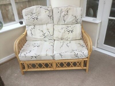 Fantastic Cane Wicker Conservatory Furniture Two 2 Seater Sofas And Spiritservingveterans Wood Chair Design Ideas Spiritservingveteransorg