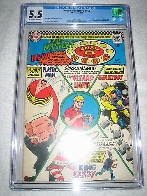 HOUSE OF MYSTERY # 160 CGC 5.5 OW/WH - 1st SILVER AGE APPEARANCE OF PLASTIC MAN!