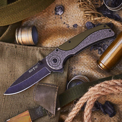 Spring Assisted Knife -Pocket Folding Edc Knife - Military Style.Made in Ukraine