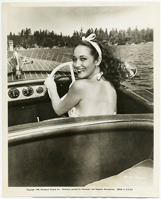 Breezy Boating Beauty Dorothy Lamour '45 Vintage Masquerade in Mexico Photograph