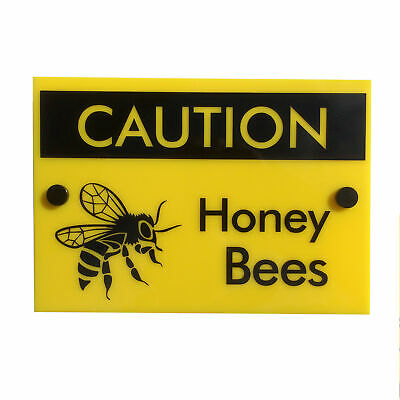 Bee Keeping Warning Sign 'Caution Honey Bees' | PREMIUM QUALITY | weatherproof