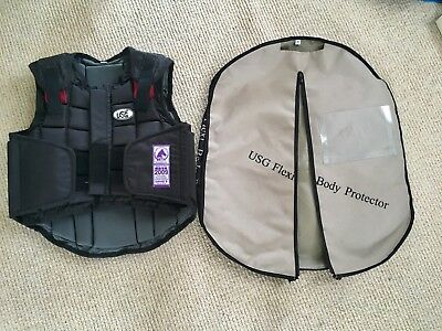Child's adjustable horse riding body protector - USG Flexi . Excellent Condition