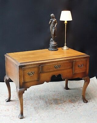 Antique Low Boy Side Table Sideboard Console Drawers Vintage  - We Can Deliver