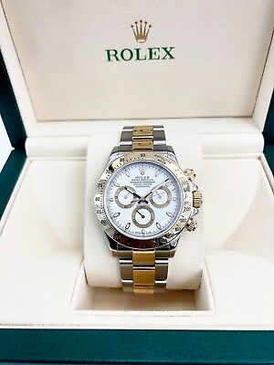 Rolex Daytona Solid 18K Yellow Gold/Stainless Watch Ref 116523 F Serial 2004