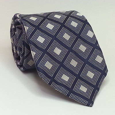 "Daniel Milano Men Silk Dress Neck Tie ITALY 3.75"" wide 60"" Long Handmade Blue"