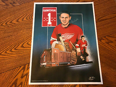 VINTAGE TERRY SAWCHUK ''18x23'' LITHOGRAPH POSTER ED LAPERE 398/550 RARE