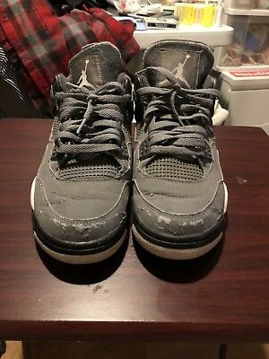 ffb4bfd33921af 2004 Air Jordan IV Retro 4 Cool Grey Yellow Mens Size 10 308497-001 PROJECT