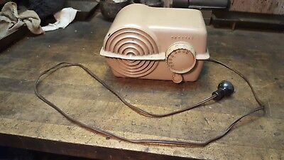 Antique Crosley Radio Tan Table Model 11-118 U 1940's 1950's