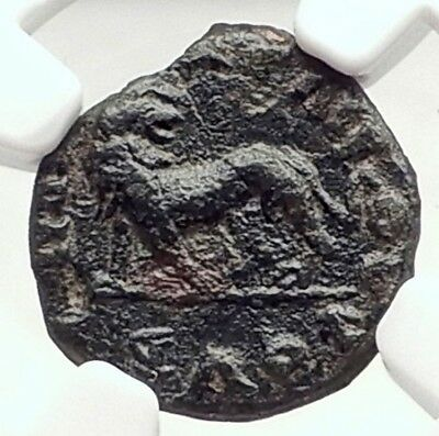 HADRIAN 117AD Authentic Ancient RARE Miletos Ionia Roman Coin LION NGC i73125