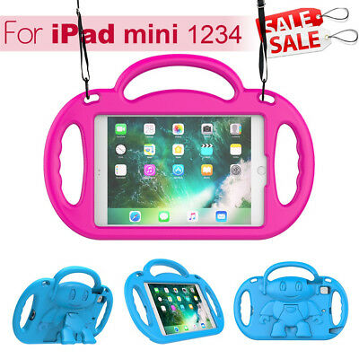 Kids Shockproof iPad Case Cover EVA Foam Stand For Apple iPad Mini 1 2 3 4 Air