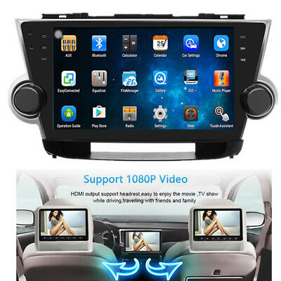 Android 5.1 Car Radio Player GPS Navigation WIFI Fit For Toyota Highlander 10-13